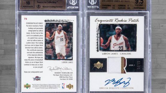 LeBron James Rookie Card Sets Sales Record